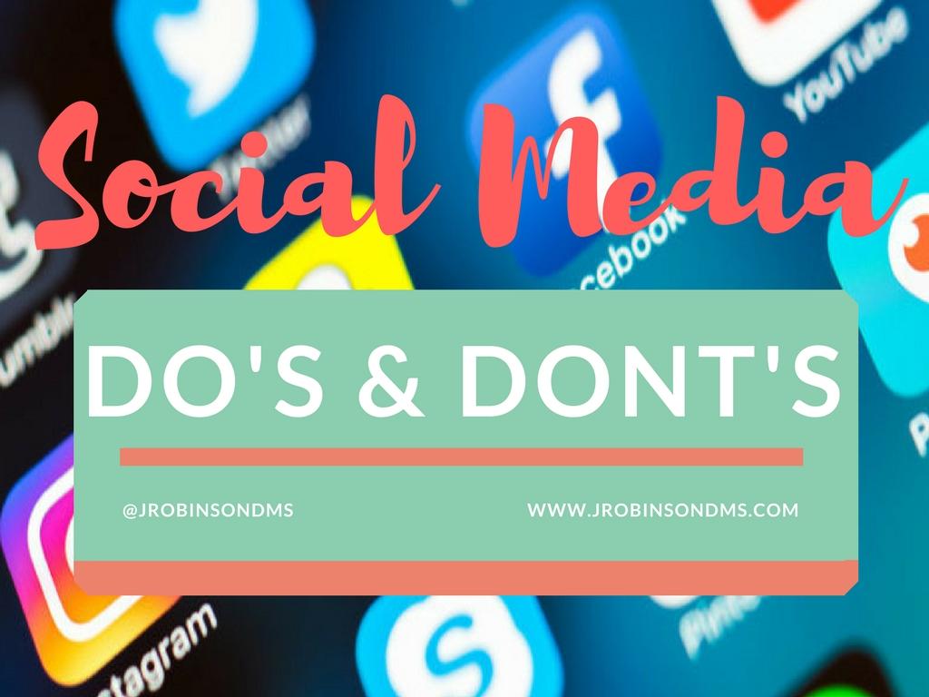 Social mediaDo's & Dont's